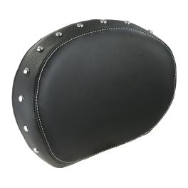 Indian Genuine Leather Passenger Backrest Pad - Black - IND287966602