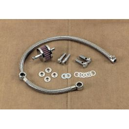 BRAIDED HOSE CRANKCASE BREATHER KIT