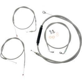 STANDARD BRAIDED STAINLESS HANDLEBAR CABLE/BRAKE LINE KIT - 0610-0338