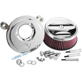 SPORTSTER CHROME SCALLOPED STAGE II BILLET SUCKER AIR CLEANER ASSEMBLY - 1010-0064