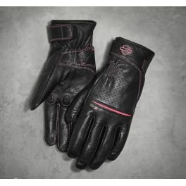Women's Pink Label Perforated Gloves - LCS 98353-17VW
