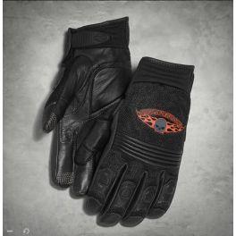 Men's Skull Touchscreen Tech Gloves - LCS98252-13vm