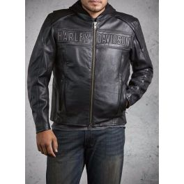 Men's Road Warrior 3-in-1 Leather Jacket - LCS9813809VM