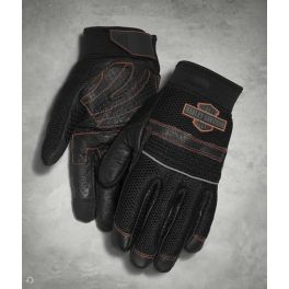Men's Saddle Mesh & Leather Gloves - LCS98364-15vm