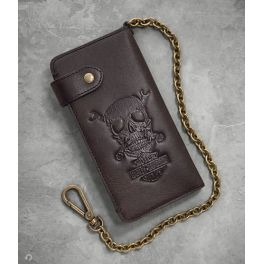 Men's Skull & Wrenches Biker Wallet - LCS97695-18VM
