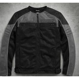 Men's Toil Collarless Mesh Jacket - LCS9818517VM - 3XL