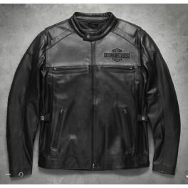 Men's Votary Leather Jacket - LCS98119-17VM