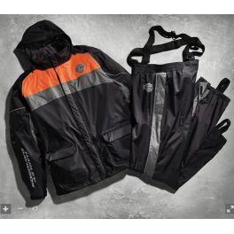 High Tail Colorblocked Hi-Vis Rain Suit - LCS98337-15VM