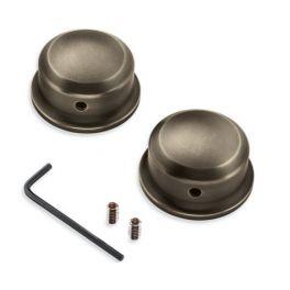 Brass Swingarm Pivot Bolt Covers - LCS61400346