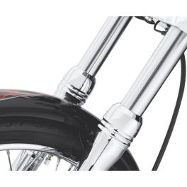Billet Fork Slider Dust Covers - LCS46889-06