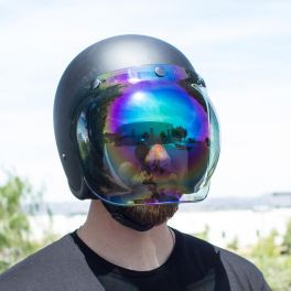 BILTWELL ANTI-FOG BUBBLE SHIELD RAINBOW MIRROR