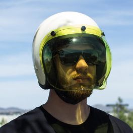 BILTWELL ANTI-FOG BUBBLE SHIELD YELLOW