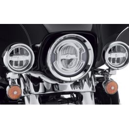 68000252 4 in. Daymaker Signature Reflector LED Auxiliary Lamps - Chrome - LCS68000252