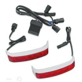 Electra Glo LED Saddlebag Run/Brake/Turn Lamp - Chrome Housing/Red Lens - LCS67800448A