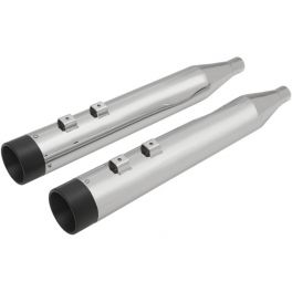 "4"" SLIP-ON MUFFLERS WITH BILLET ALUMINUM END CAPS FLH-FLH 95-16"