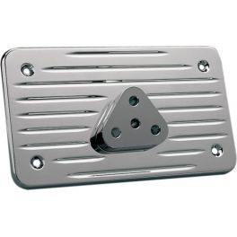 RADIUS GROOVED CHROME LICENSE BACKING PLATE DS-720848