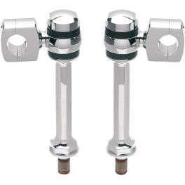 CHROME DAWGBONE RISERS FOR SPRINGERS DS290270