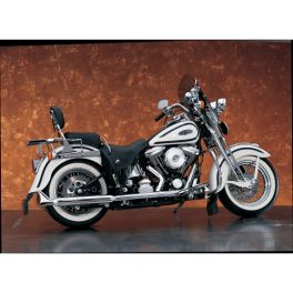 "3"" SILVER BULLET™ FISHTAIL MUFFLERS FOR SPRINGER SOFTAIL DS-202199"