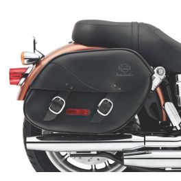 H-D Detachables Leather Saddlebags for Dyna Models LCS9018108A