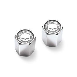 Willie G. Skull Chrome-Plated ABS Valve Stem Caps LCS4117103