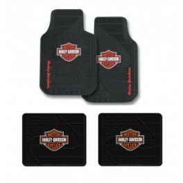 Harley Davidson Factory Front Rear Rubber Floor Mats Logo 4 Pcs Set Truck SUV