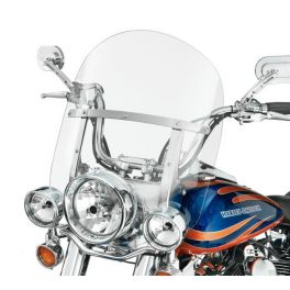 Detachable King-Size FL Softail Mid Low-Profile Windshield for Auxiliary Lamps LCS5709106A