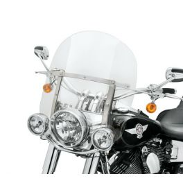 """King-Size H-D Detachables Windshield for FL Softail 18"""" Clear, Polished Braces LCS57400115"""
