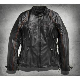 Women's Triple Vent System Eclipse Waterproof Leather Jacket
