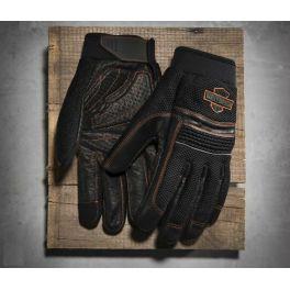 Men's Saddle Mesh & Leather Gloves