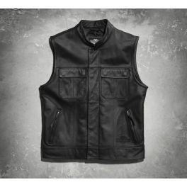 Men's Foster Leather Vest LCS9809015VML