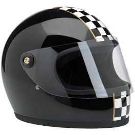 GRINGO S HELMET - LE CHECKER GLOSS BLACK