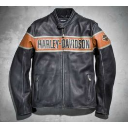 Men's Victory Lane Leather Jacket LCS9805713VM