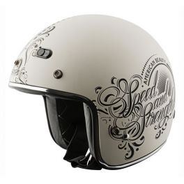 WOMEN'S SS600 AMERICAN BEAUTY MATTE CREAM HELMET