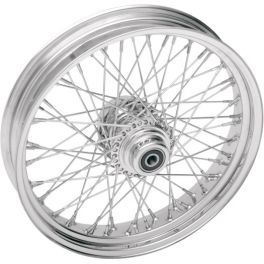 CHROME LACED REAR WHEEL ASSEMBLY 0204-0056