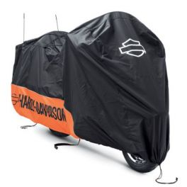 Indoor/Outdoor Motorcycle Cover-Orange/Black with Graphics-LCS93100023