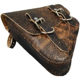 HARLEY DAVIDSON V ROD LEFT SIDE SOLO SADDLE BAG - RUSTIC BROWN SBVRDL06