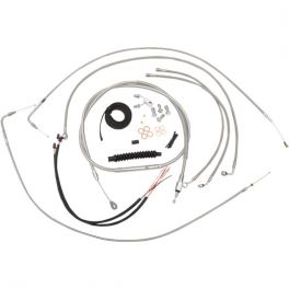 Braided Stainless  plete Handlebar Cable And Brake Line Kit 0610 1334 on bmw street rod