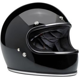 Capacete Biltwell Gringo - Gloss Black with Chrome