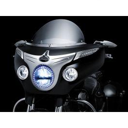 CHROME DRIVING LIGHT BEZELS FOR INDIAN 2001-0945