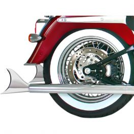 """2-1/4"""" MUFFLERS FOR SOFTAILS WITH TRUE DUAL CROSSOVER HEADERS 1801-0902"""