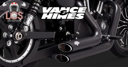 LCS Motorparts, tudo em escapamentos e ponteiras Vance & Hiners para sua Harley Davidson.